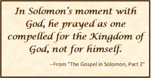 Solomon's moment with God